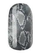 Nail Foil Nail Wraps by Glamstripes - Phyton in steel grey