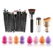 Baomabao 6PCS Cosmetic Makeup Brush Sponge Foundation Powder Puff