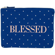 Blessed Cosmetic Pouch - Canvas Zip Bag