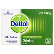 Dettol Anti-Bacterial Original Soap Bar, 100 g, Pack of 6
