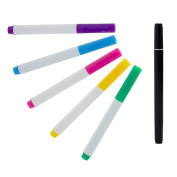 Set of 5 Assorted Colours Chalkboard Markers + 1 Double-Ended White Chalkboard Marker