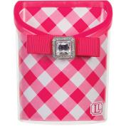 LockerLookz Magnetic Locker Bin, Pink Gingham